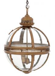 Casa Padrino Baroque Design pendant lamp antique brass ball diameter 43 cm, height 63 cm - Baroque castle lamp lantern light