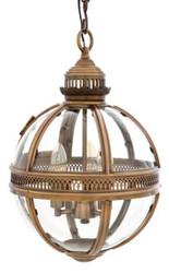 Casa Padrino Baroque Design pendant lamp antique brass ball diameter 30 cm, height 50 cm - Baroque castle lamp lantern light