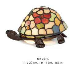 Casa Padrino Tiffany Deco Lamp Turtle Stained Mod2 diameter 20cm Light Lamp