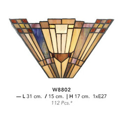 Casa Padrino Tiffany Wall Lamp Diameter 31 x 17 cm wall light lamp