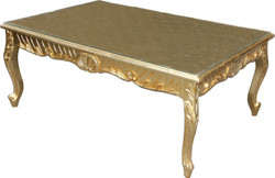 Casa Padrino baroque coffee table gold antique look 120 x 80 cm - Mod2