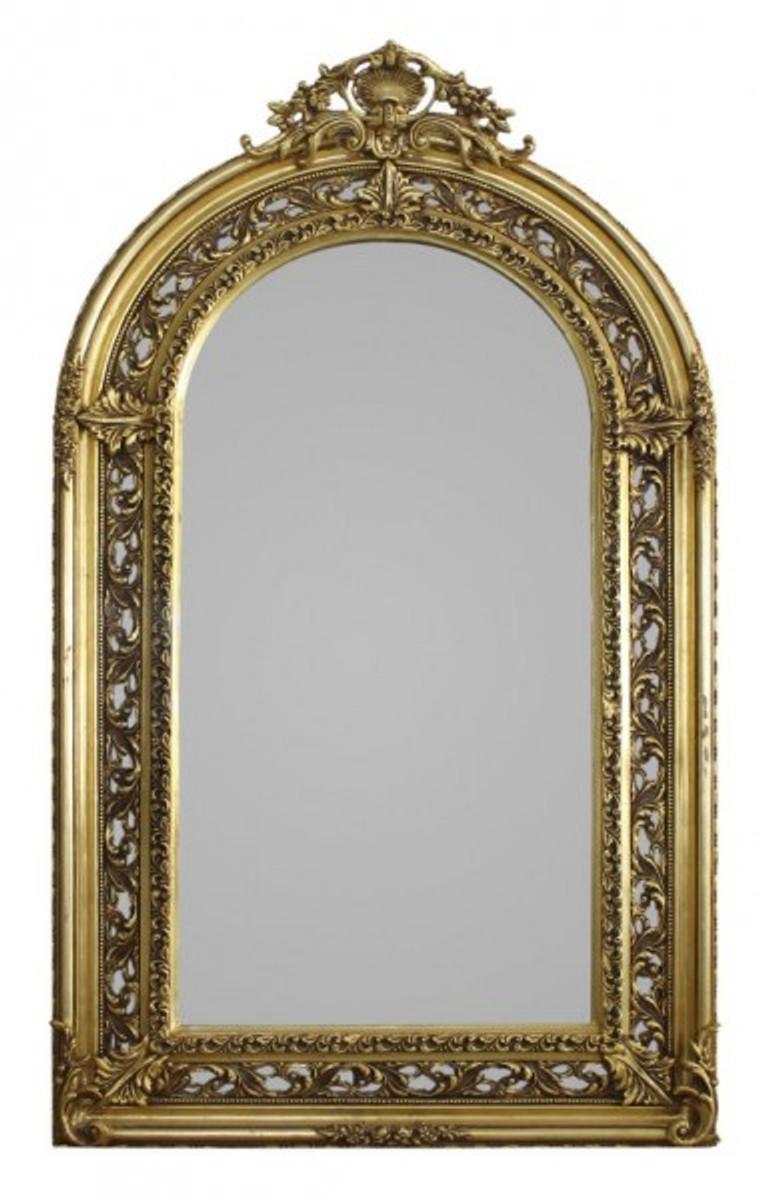 casa padrino barock spiegel halbrund gold 190 x 110 cm prunkvoll spiegel barock spiegel barock. Black Bedroom Furniture Sets. Home Design Ideas