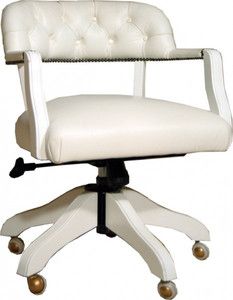 Luxury leather office chair white swivel chair desk chair - Executive Chairs Leather Furniture Armchair