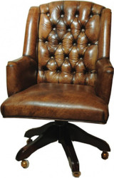 Casa Padrino luxury leather executive chair office chair brown swivel desk chair - head office