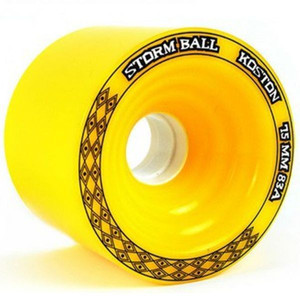 Koston Longboard Wheel Set Storm Ball Gelb 75mm / 83A (4 Rollen) – Bild 2