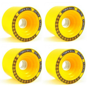 Koston Longboard Wheel Set Storm Ball Gelb 75mm / 83A (4 Rollen) – Bild 1
