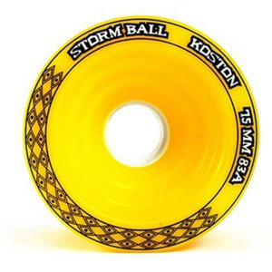 Koston Longboard Wheel Set Storm Ball Gelb 75mm / 83A (4 Rollen) – Bild 3