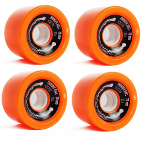 Koston Longboard Wheel Set Thunder Ball Orange 70mm / 83A  (4 Rollen) WH201 - Sliding Wheels – Bild 1