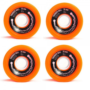 Koston Longboard Wheel Set Thunder Ball Orange 70mm / 83A  (4 Rollen) WH201 - Sliding Wheels – Bild 2