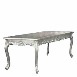 Casa Padrino Baroque silver dining table 180cm - dining table
