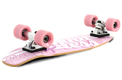 Mindless Daily Oldschool Skateboard Wood Cruiser Pink / White - Old School Complete Skateboard - Special Edition with Koston bearings – Bild 5