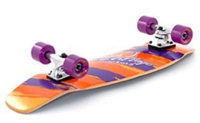 Voltage Oldschool Skateboard Wood Cruiser Komplettboard Orange / Purple  - Old School Complete Skateboard - Longboard Cruiser - Special Edition mit Koston Kugellagern!!! – Bild 2