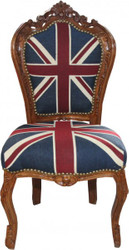 Casa Padrino Baroque Armchair Union Jack / Brown - furniture antique style