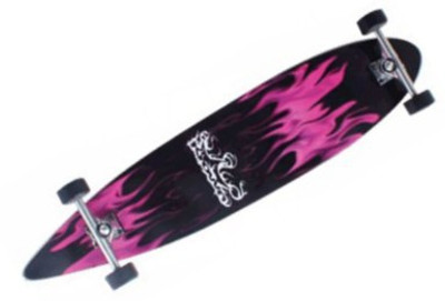 Krown Longboard Komplettboard Skateboard Purple Flame II Pintail - Complete mit Koston Kugellagern