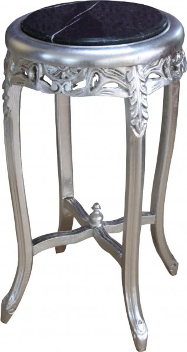 Casa padrino barock beistelltisch mit marmorplatte rund for Marmorplatte rund