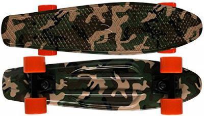 Koston / Paradise Oldschool Skateboard Plastic Cruiser 70s Style camo - 22 x 6.0 inch - Plastic Vinyl Skateboard – Bild 1