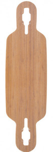 Fibretec Longboard Drop Through Deck S-Flex 960 - V-lam Bambus Longboard Profi Deck - Medium Flex – Bild 3