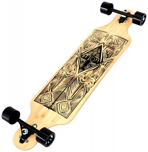 Atom Drop Through Longboard Komplettboard 40 x 10 inch Tiki  - Komplett Longboard Complete Dropthrough Downhill mit Koston Kugellagern – Bild 2
