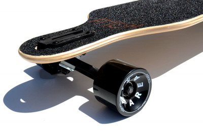 Atom Drop Through Longboard Komplettboard 40 x 10 inch Tiki  - Komplett Longboard Complete Dropthrough Downhill mit Koston Kugellagern – Bild 4