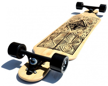 Atom Drop Through Longboard Komplettboard 40 x 10 inch Tiki  - Komplett Longboard Complete Dropthrough Downhill mit Koston Kugellagern – Bild 5