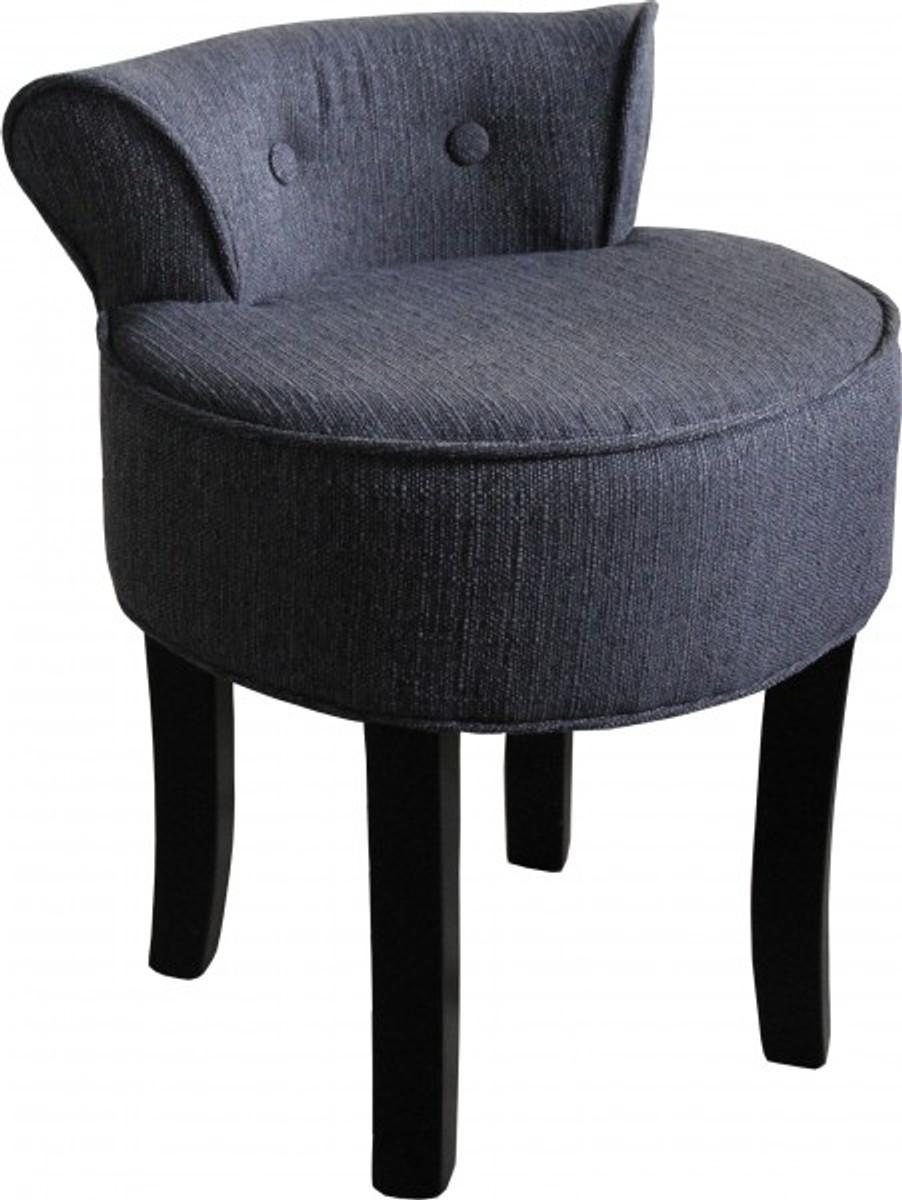 casa padrino designer hocker boston grau schwarz. Black Bedroom Furniture Sets. Home Design Ideas