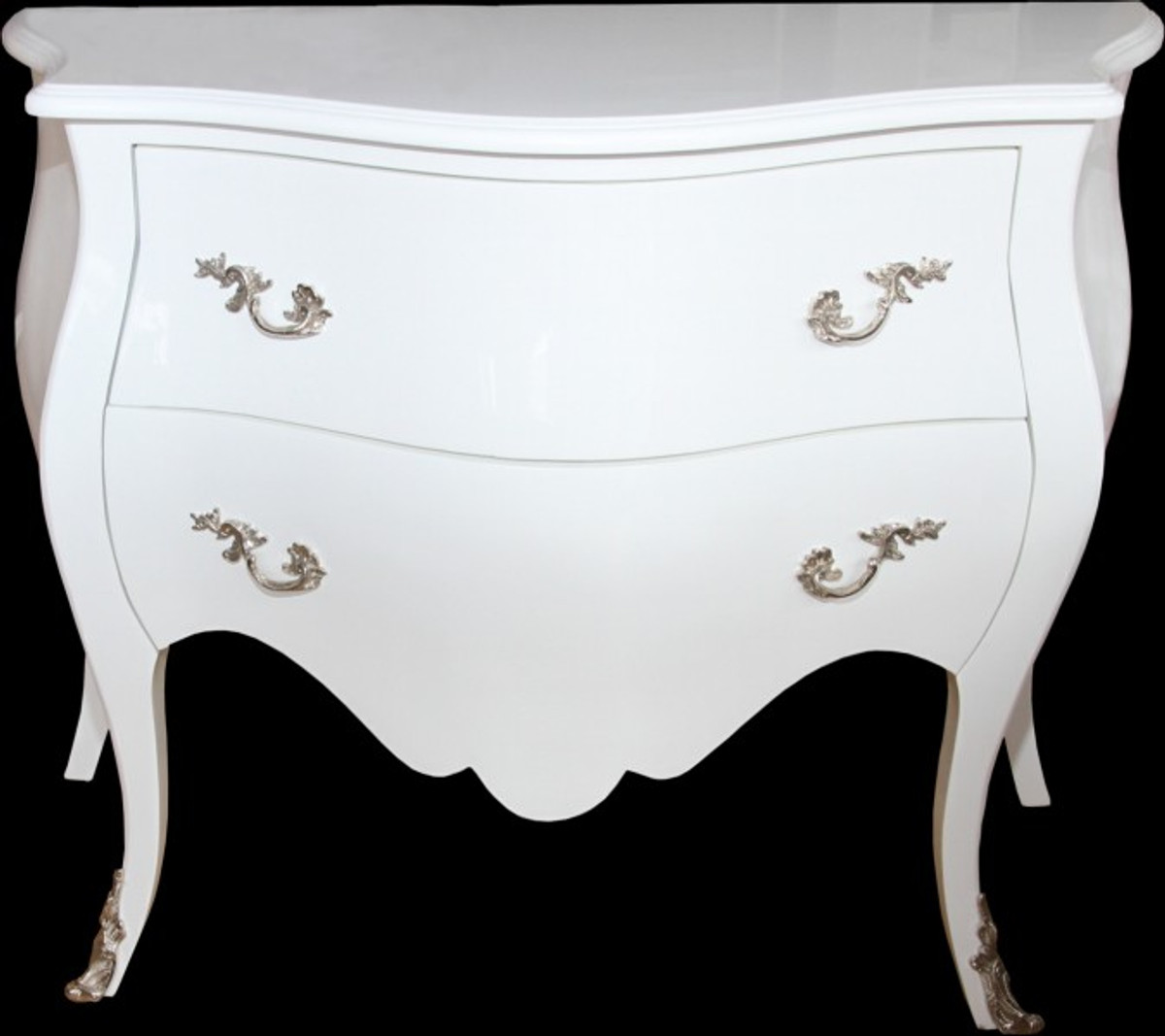 casa padrino barock kommode 100 cm wei hochglanz m bel. Black Bedroom Furniture Sets. Home Design Ideas
