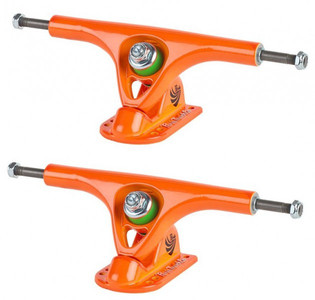 PARIS Longboard Skateboard Achsen V2 Set 180mm / 50° Orange (2 Achsen)