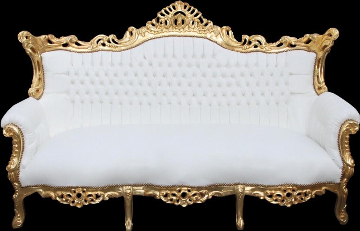 Casa Padrino Barock 3 Er Sofa Master Weiss Gold Antik Mobel Sofas