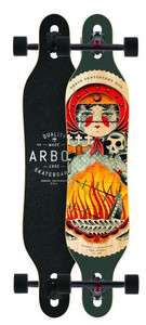 Arbor Longboard Komplettboard Axis GT 40.0 x 9.0 inch Cruiser Carver Dropthrough - Special Edition mit Koston Kugellagern - Drop Through Longboard