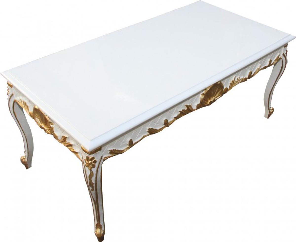 casa padrino barock couchtisch wei gold 120 x 60 cm mod2 antik look couchtische barock. Black Bedroom Furniture Sets. Home Design Ideas