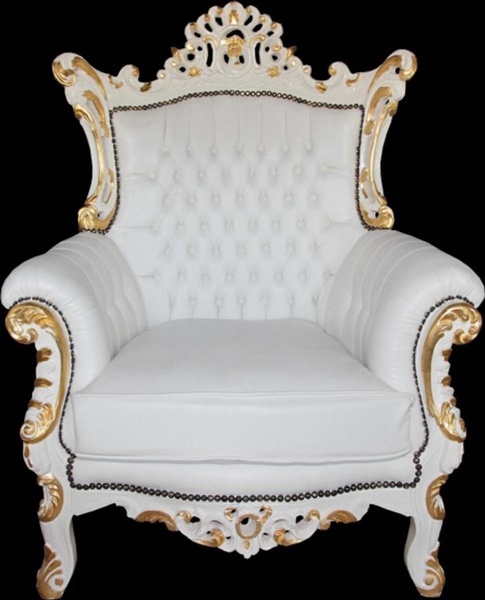casa padrino barock sessel al capone wei gold mod2 limited edition sessel barock sessel. Black Bedroom Furniture Sets. Home Design Ideas