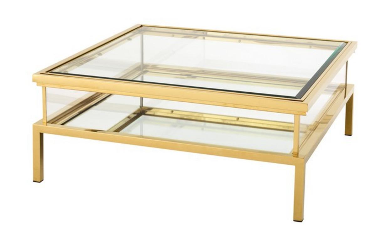 Casa Padrino Luxury Art Deco Designer Coffee Table Stainless Steel