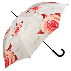 "MySchirm designer umbrella ""roses"" cream - Elegant umbrella - Luxury design - Automatic Umbrella"