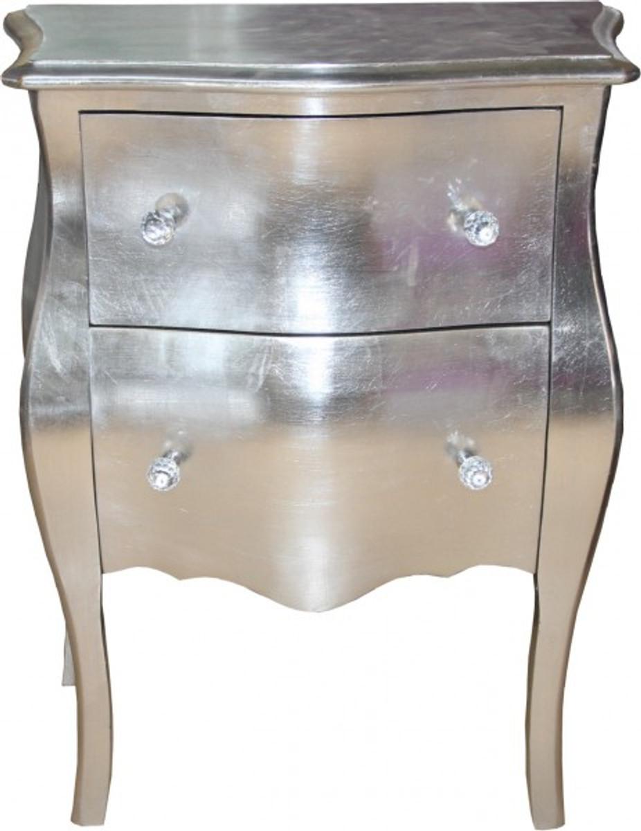 Casa Padrino Barock Kommode Silber Antik Look H 78 Cm B 62 Cm T 36