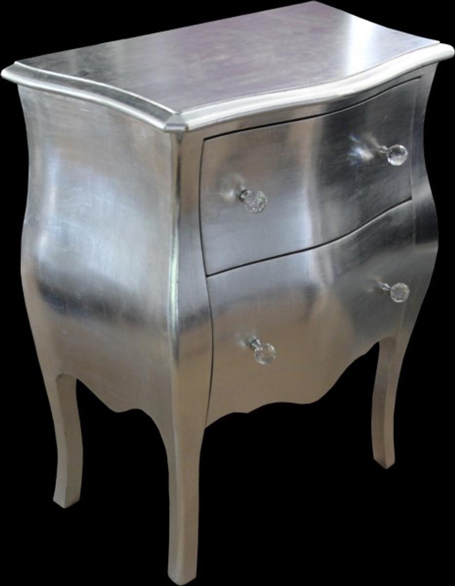 casa padrino barock kommode silber antik look h 78 cm b 62 cm t 36 cm kommoden barock kommoden. Black Bedroom Furniture Sets. Home Design Ideas