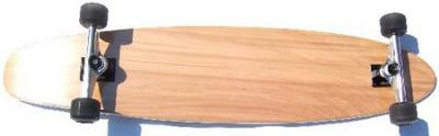 Clans Longboard Kicktail complete board 43.0 x 9.0 inch - Complete Longboard Natural