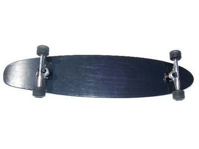 Clans Longboard Kicktail complete board Full Black 43.0 x 9.0 inch - Complete Longboard