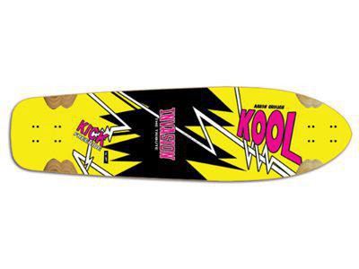 JET Kool Kick The Tribute Longboard Deck 10.2 x 38.0 inch - Cruiser Deck Skateboard