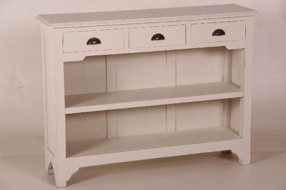 Casa Padrino Landhaus Stil Konsolen Tisch Mit 3 Schubladen Weiß   Shabby  Chic Möbel U2013 Bild