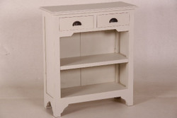 Casa Padrino country-style console table with 2 drawers white - Shabby Chic Furniture