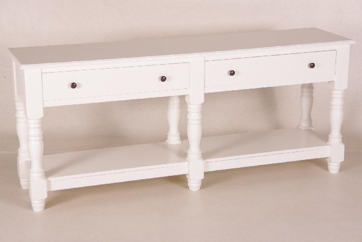 casa padrino landhaus stil konsolen tisch mit 4 schubladen wei 180 cm mods4 shabby chic m bel. Black Bedroom Furniture Sets. Home Design Ideas