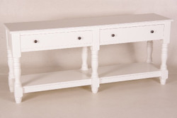 Casa Padrino country-style console table with 4 drawers white 180 cm ModS4- Shabby Chic Furniture wall bracket