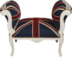 Baroque stool Stool Union Jack / Cream - Seat