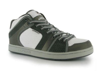 Airwalk Skateboard Schuhe Brian Mid Junior White/Grey/Silver - Sneaker Skate Shoes