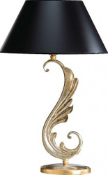 Casa Padrino luxury baroque table lamp black / gold - plated columns lamp - Handmade in Italy