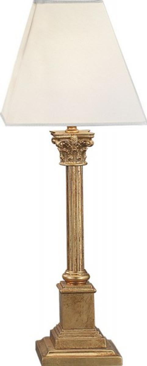 casa padrino luxus barock tischleuchte gold 54 x 20 cm blattgold s ulen lampe handgefertigt. Black Bedroom Furniture Sets. Home Design Ideas