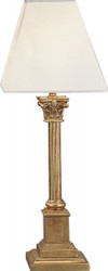 Casa Padrino luxury baroque table lamp gold 54 x 20 cm - gold leaf columns lamp - Handmade in Italy