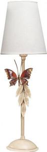 Casa Padrino Luxus Tischleuchte Antik Weiss mit Schmetterling - Italienische Tisch Lampe - Handgefertigt in Italien