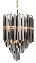 Casa Padrino luxury hanging lamp smoke glass icicles - Art Deco hotel / restaurant lamp - Impressive light
