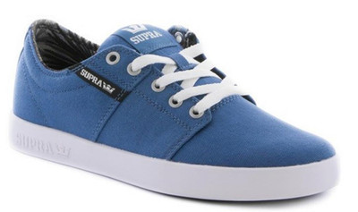 Supra Skateboard Schuhe Stacks II Stone Blue / Black-White - Sneakers Sneaker – Bild 1